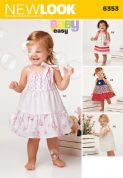 6353 New Look Pattern: Babies' Easy to Sew Dress